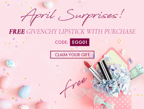 April Surprises! FREE Givenchy lipstick with purchase [CODE: EGG01]