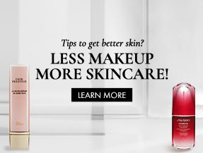 Tips to get better skin? Less makeup MORE SKINCARE!  [Learn More]