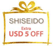 SAVE USD5 on Shiseido NOW!