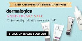 13th Anniversary Brand Carnival 🎪 Dermalogica Anniversary SALE 💳