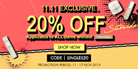 20% Off Sitewide 11.11 Exclusive