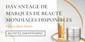 Davantage de marques de beauté mondiales disponibles! Offre à durée limitée!