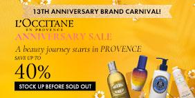 13th Anniversary Brand Carnival 🎪 L'Occitane Anniversary SALE 💳