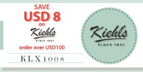 SAVE USD8 on Kiehl's NOW!