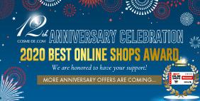 COSME-DE.COM 12th Anniversary Celebration🏆2020 Best Online Shops Award