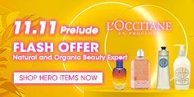 [DOUBLE 11 Prelude] ⚡ L'Occitane Flash Offer 🌿 Natural and Organic Beauty Expert