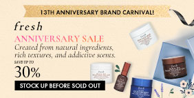 Fresh Anniversary SALE